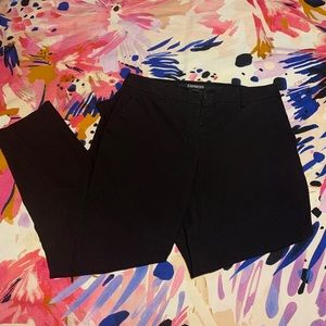 Women's Black Express Columnist Crop Pants